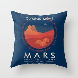 Mars adventure camp Throw Pillow