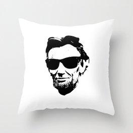 Abraham Lincoln aka Abro-ham Throw Pillow