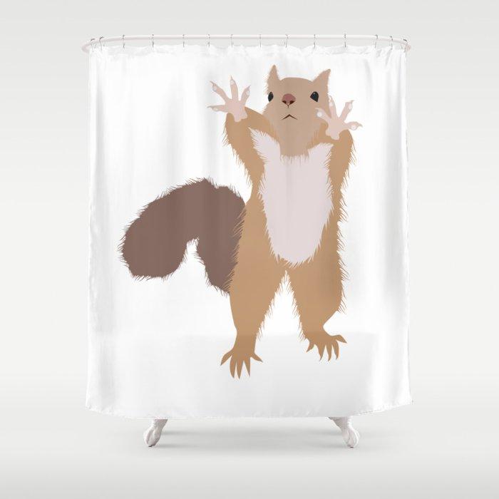 Baesic I Cant Reach Squirrel Shower Curtain