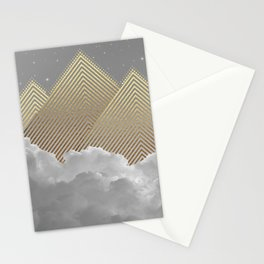 Silence is the Golden Mountain Stationery Cards