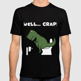 TRex dinosaur arms toilet funny gift T-shirt