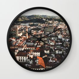 Florence From Above Wall Clock