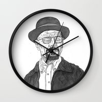 heisenberg Wall Clocks featuring Heisenberg by Andy Christofi