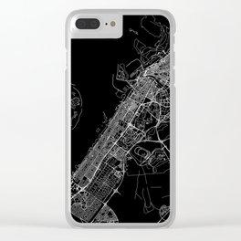 Dubai Black Map Clear iPhone Case