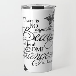 'Strange Skullerflies' -  Quotes - Edgar Allan Poe Travel Mug