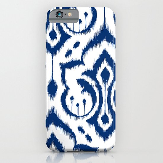 Ikat Damask Navy iPhone & iPod Case