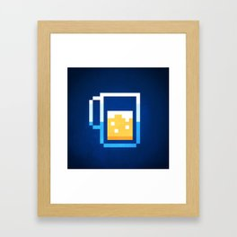 Pixel Beer Framed Art Print