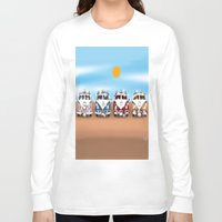 vans Long Sleeve T-shirts featuring VW Cammper Vans by Woofer