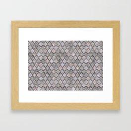 Blush And Grey Moroccan Tiles  Framed Art Print