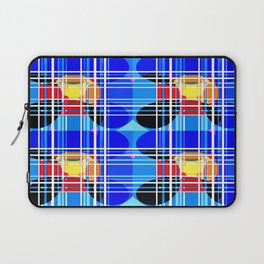 Spheres and lines - Blue and Black Laptop Sleeve