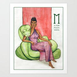 M is for Mami Wata Art Print