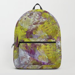Purple and Gold Fractal Graphic Design Backpack