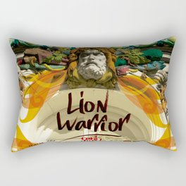 lion warrior - cara dura! Rectangular Pillow