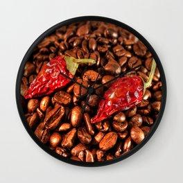 Hot Chili Coffee Wall Clock