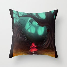 A Wolf Is the Last Thing On Her Mind Throw Pillow