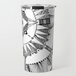 Vacuoles - Black and White Travel Mug