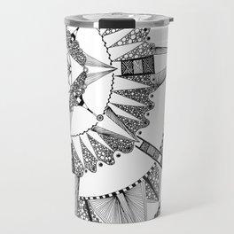 Vacuoles - Black and White Travel Mug