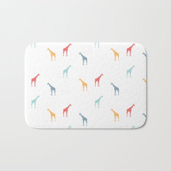 Giraffe Pattern Bath Mat