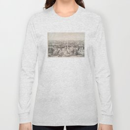Vintage Pictorial Map of Savannah Georgia (1856) Long Sleeve T-shirt
