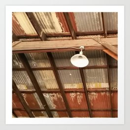 Ceiling workplace Art Print