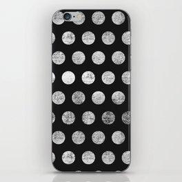 Mahogany Polka Dots (Black & White) iPhone Skin