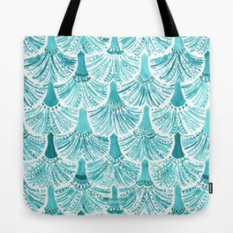 MERMAID TAILS Nautical Scallop Pattern Tote Bag