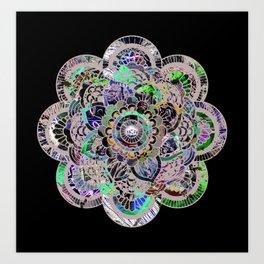 Mandala Montage Art Print