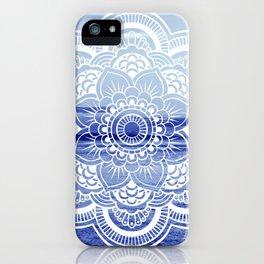 Water Mandala : Blue iPhone Case