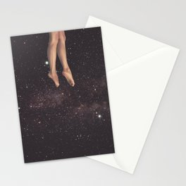 Hanging in space Stationery Cards