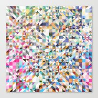 confetti Canvas Prints featuring Confetti by FRAXTURED