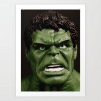hulk Art Prints featuring Hulk by Beastie Toyz