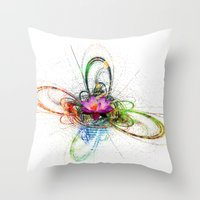 lotus flower Throw Pillows featuring Lotus by haroulita