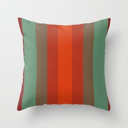 Rust Turquoise Spice 2 - Color Therapy Throw Pillow