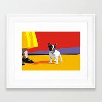 boston terrier Framed Art Prints featuring Boston terrier by Matt Mawson