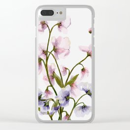 Flowers -a57 Clear iPhone Case