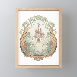 Castle in a Magical Forest Kingdom Framed Mini Art Print