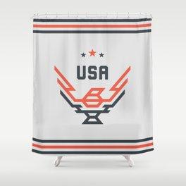 USA Bird Shower Curtain