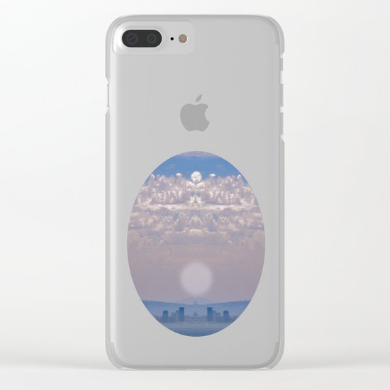 Smoky Sky Clear iPhone Case