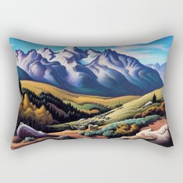 American Masterpiece 'The Sheep Herder' by Thomas Hart Benton Rectangular Pillow