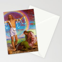 12,000pixel-500dpi - William Holman Hunt - Christ And The Two Marys - Digital Remastered Edition Stationery Cards