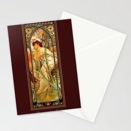 Vintage Art Nouveau - Alphonse Mucha Stationery Cards