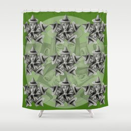 Kaleidescope Witch Shower Curtain