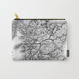 Vintage Map of Scotland (1832) BW Carry-All Pouch