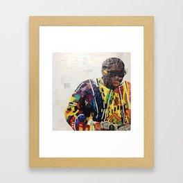 COOGI SWEATER ON Framed Art Print