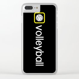 Volleyball (Yellow) Clear iPhone Case