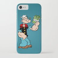 popeye iPhone & iPod Cases featuring Popeye the Sailor Man by CromMorc