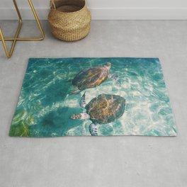 Twin Sea Turtles Rug
