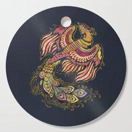 Watercolor Phoenix bird Cutting Board