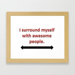 Awesome People Framed Art Print