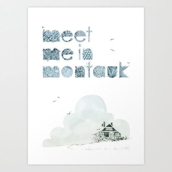 """Meet Me In Montauk"" Art Print"